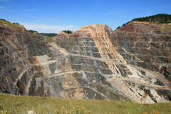 Open pit gold mine stock photos