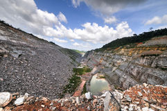 Open Pit Gold Mine, Africa Royalty Free Stock Photo