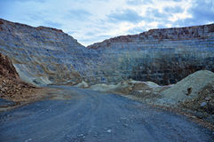 Open pit gold mine. Rosia Montana, Romania Royalty Free Stock Photos