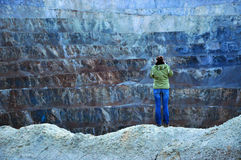 Open pit gold mine. Rosia Montana, Romania Stock Photo