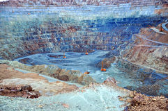 Open pit gold mine in Rosia Montana, Romania Royalty Free Stock Photo