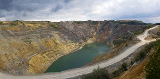 Open Pit  Lake Royalty Free Stock Images