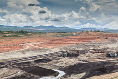 Open pit lignite mine. At mae moh Lampang Thailand royalty free stock photography