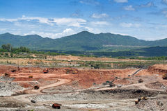 Open pit lignite mine Stock Photography