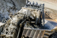 Open pit machinery Royalty Free Stock Photography