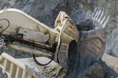 Open pit machinery. Closeup of the open pit machinery Stock Photo