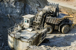 Open pit machinery. View of the open pit machinery Stock Image