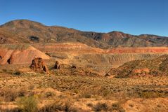 Open Pit Mine. In the desert southwest stock photo