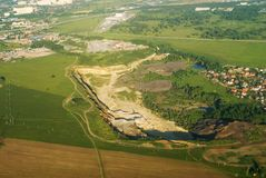 Open Pit Mine royalty-vrije stock foto's
