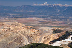 Open pit mine stock photography