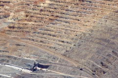 Open pit mine royalty free stock images