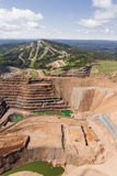 Open pit mine Stock Images