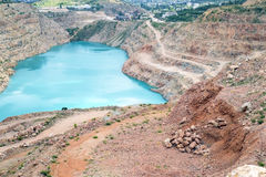 Open pit mine Stock Photo