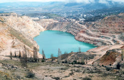 Open pit mine Royalty Free Stock Photography
