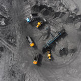 Open pit mine, breed sorting, mining coal, extractive industry Royalty Free Stock Images