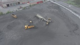 Open pit mine, breed sorting, mining coal, extractive industry stock video