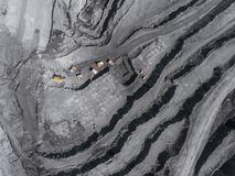 Open pit mine, breed sorting, mining coal, extractive industry anthracite, Coal industry Stock Image