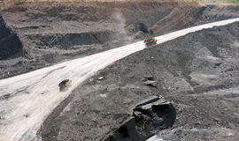 Open Pit Coal Mine Royalty Free Stock Images
