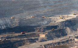 Open-pit Mine with Earth Move Royalty Free Stock Photos