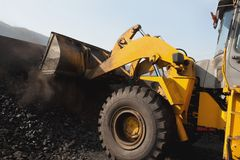 Open-pit Mine with Earth Move Stock Photos
