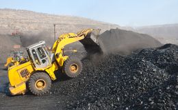 Open-pit Mine with Earth Move Stock Image