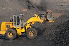 Open-pit Mine with Earth Move Royalty Free Stock Image
