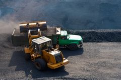 Open-pit Mine with Earth Move Stock Images
