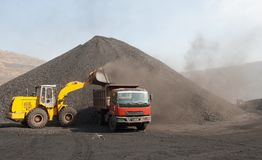 Open-pit Mine with Earth Move Stock Photography