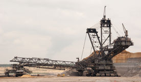 Open-pit mine, Hambach, Germany Royalty Free Stock Photography