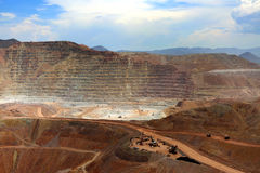 Open Pit Mine, Morenci, Arizona royalty free stock photos