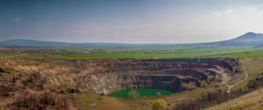 Open-pit Mine near Tsar Asen, Bulgaria. Abandoned open-pit mine near Tsar Asen Village in Bulgaria royalty free stock images