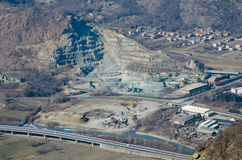 Open pit mine Royalty Free Stock Image
