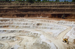 Open pit mine. Stone quarry with excavate - Open pit mine Stock Photography