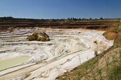 Open pit mine. Stone quarry with excavate - Open pit mine Royalty Free Stock Photos