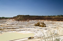 Open pit mine. Stone quarry with excavate - Open pit mine Stock Images