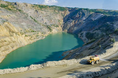 Open pit mine Royalty Free Stock Photos