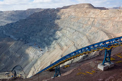 Open pit mining Royalty Free Stock Image