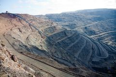 Open pit mining Royalty Free Stock Photo