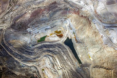 Open Pit Mining. Aerial view of an open pit mining in Arizona Stock Image