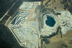Open Pit Mining royalty-vrije stock afbeeldingen