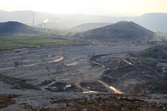 Open pit mining Stock Photography