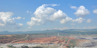 Open pit mining Stock Image