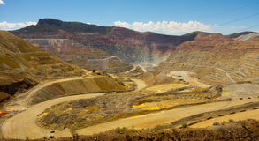 Open pit mining in the dessert Stock Photos