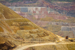 Open pit mining in the dessert Royalty Free Stock Images