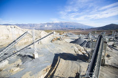 Open pit mining and processing plant Stock Photo