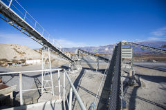Open pit mining and processing plant Stock Photos