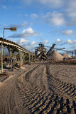 Open pit mining for sand and gravel Royalty Free Stock Images