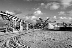 Open pit mining for sand and gravel Royalty Free Stock Image
