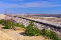 The Open-pit mining Welzow. Open-pit mining Welzow in Germany Stock Image