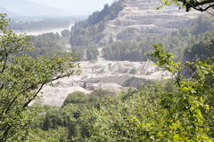 Open Pit Mountain Mine Royalty Free Stock Image